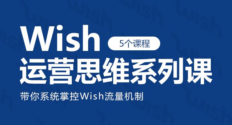 Wish运营思维系列课(5个课程)