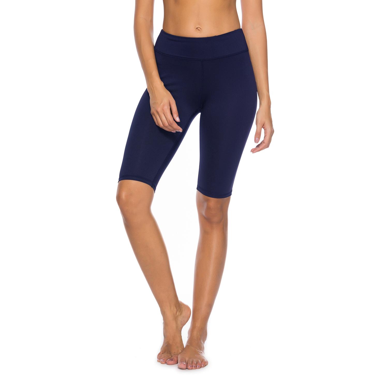 dc8608a2a4478 Women's High Waist Capri Workout Yoga Pants Running Tights Active Leggings  w Side Pocket4/5