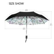黑胶防晒自动伞,100%防水面料