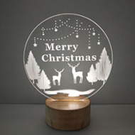 精美轻巧,圣诞亚克力木质摆件