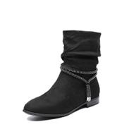 风靡欧美复古风,百搭时尚女靴