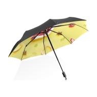 黑胶防晒手动晴雨伞