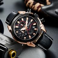 真皮男士手表,多国商标注册