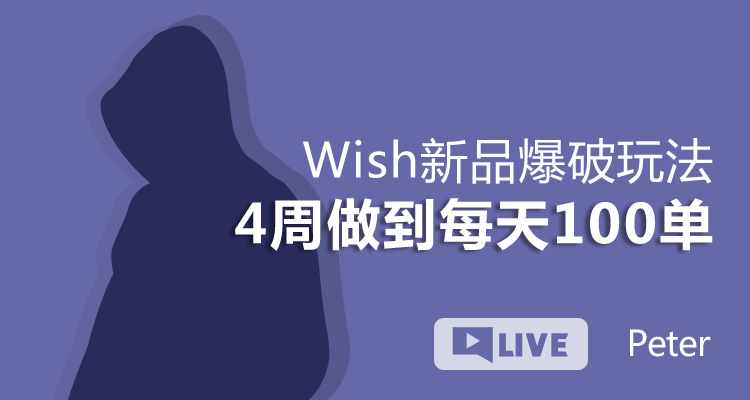 Wish新品爆破玩法 4周做到每天100单