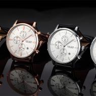 经典奢华男士腕表,百搭潮流多材质表带