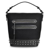 斜跨铆钉水桶包,彰显时尚个性