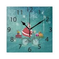 创意实用,油画质感方形时钟