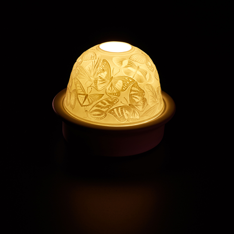 创意手工制作蝴蝶床灯可爱陶瓷led暖光夜灯儿童卧室