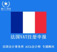 法国vat注册申报 法国税号注册申报 包含一年注册费用和一年12个月申报 1到3个月下号