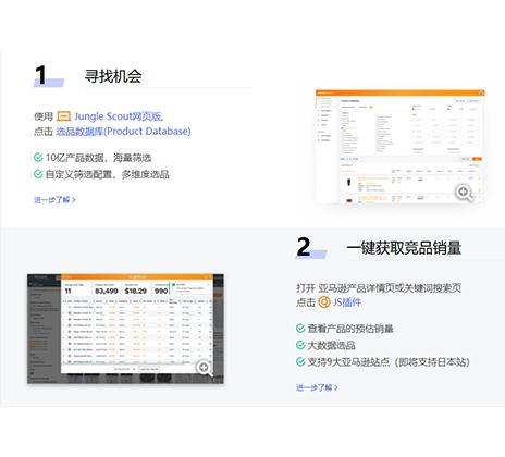 Jungle Scout 亚马逊选品插件+网页版