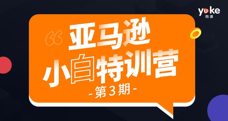 【5折特惠】亚马逊小白特训营第3期