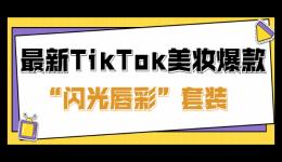 """最新TikTok美妆爆款!获近3000万播放,让独立站流量翻5倍的""""闪光唇彩""""套装"""